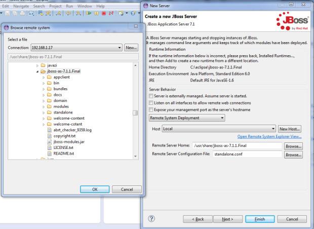 im5-2 - JBoss en servidor externo RHEL 7 y Eclipse Kepler con Spring MVC