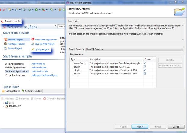 im7 - JBoss en servidor externo RHEL 7 y Eclipse Kepler con Spring MVC