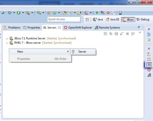 im8-3 - JBoss en servidor externo RHEL 7 y Eclipse Kepler con Spring MVC