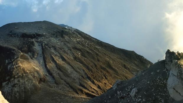 Cono activo de volcán Santiaguito
