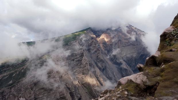 Volcán Santa María desde Santiaguito