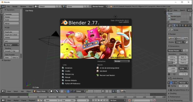 1 - Blender normal interface