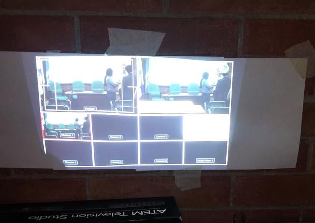 Aquí utilizamos un proyector