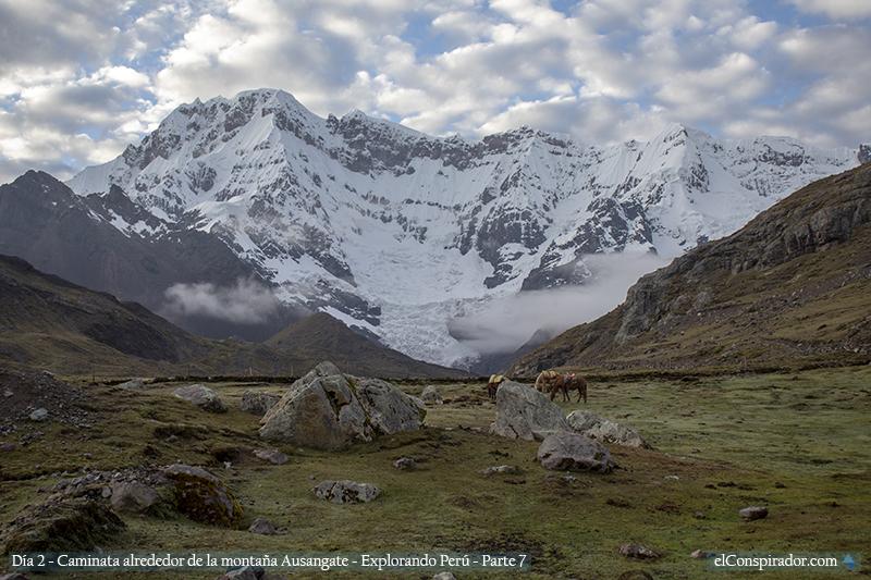 Nevado Ausangate, campamento Upis.