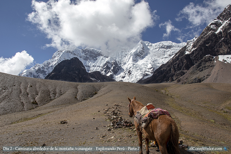 Primer paso del día, Arapapas a 4750 msnm.