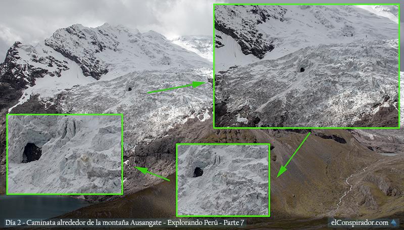 Acercamiento a cueva en glaciar Ausangate, fotografía editada.